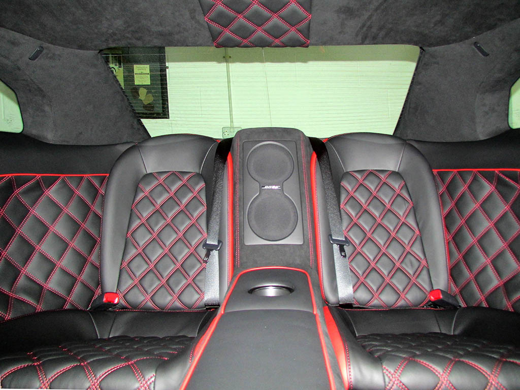 Nissan GTR interior diamond quilting